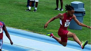 Paralysed star athlete fulfills dream of going back to track