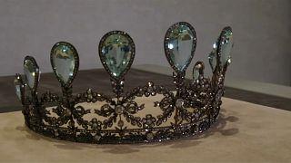A subasta una rara tiara de aguamarinas y diamantes de Fabergé