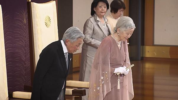 Japan's Emperor Akihito and Empress Michiko celebrate their 60th wedding anniversary