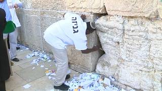 After removal, the notes are buried on the Mount of Olives