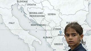 Bir mülteci kız çocuğu