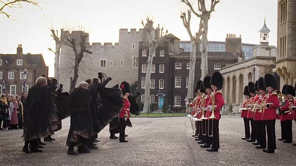 Coldstream Guards bring Game of Thrones to The Tower of London