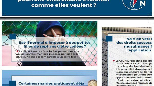 التجمع الوطني الفرنسي يجعل الإسلام محورا في حملته الانتخابية الأوروبية