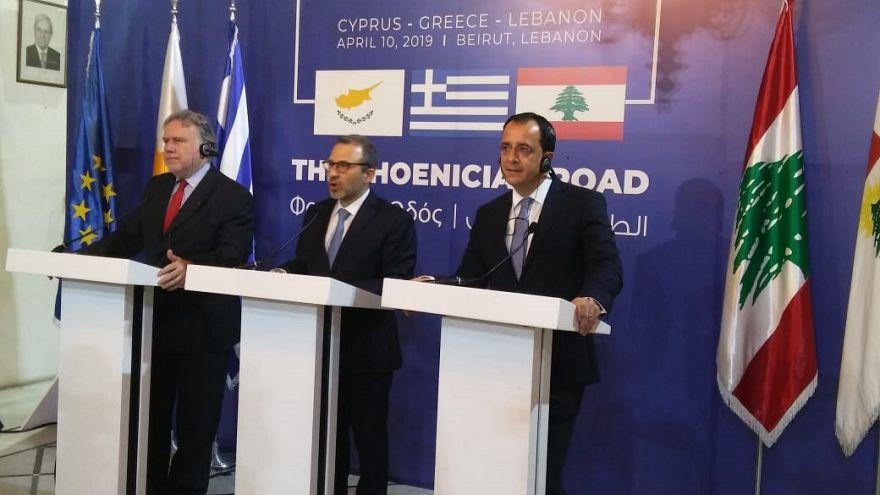 Πρώτη τριμερής συνάντηση Ελλάδας - Κύπρου - Λιβάνου