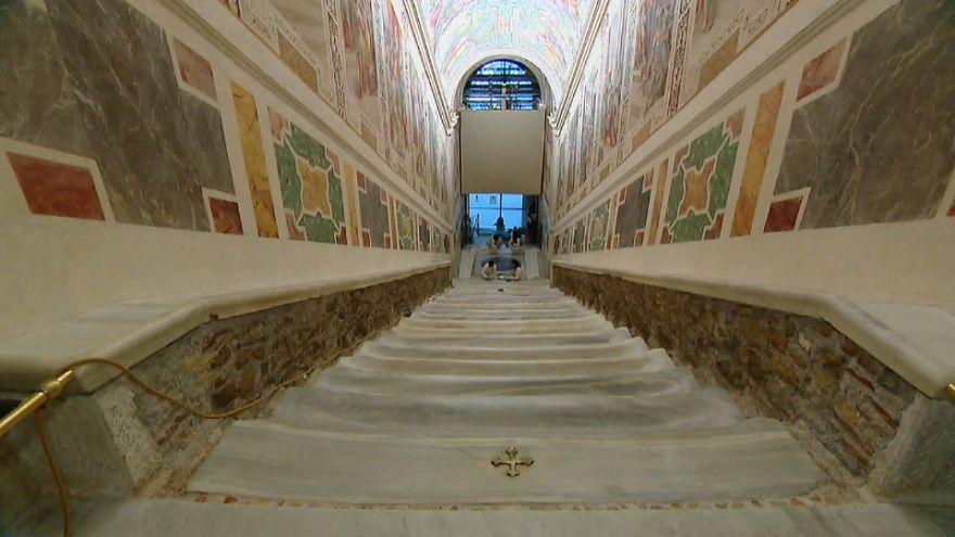 Scoperta la Scalinata santa voluta da Innocenzo XIII