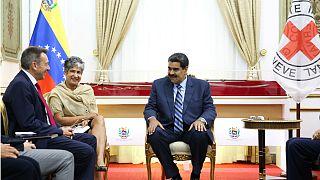 دیدار نیکلاس مادورو رئیس جمهور ونزوئلا با رئیس سازمان صلیب سرخ