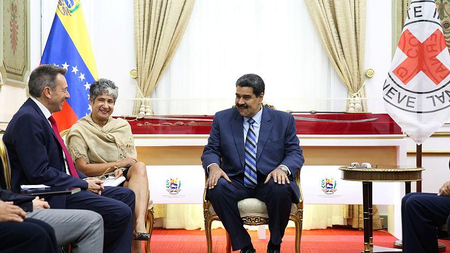 Nicolás Maduro y Peter Maurer, presidente del CICR