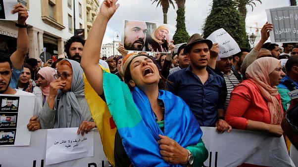 محتجون مؤيدون للحراك الشعبي في المغرب