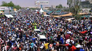 احتجاجات شعبية حاشدة تشهدها شوارع العاصمة السودانية آذار مارس 2019