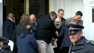 Julian Assange is dragged out of the Ecuadorian embassy