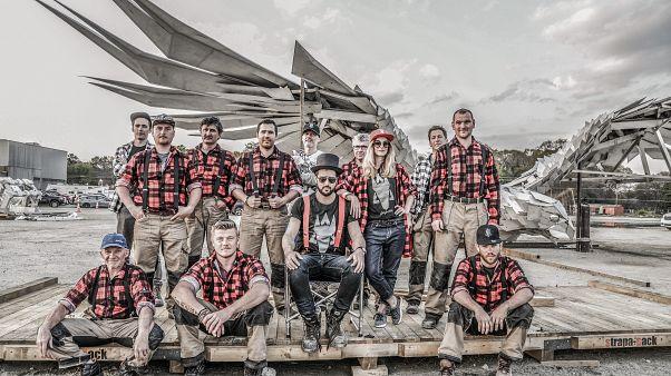 Gábor and his team building the Falcon in Atlanta