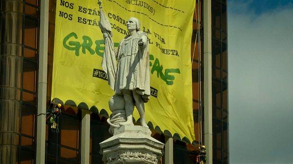 No Comment : Greenpeace alerte les politiques sur l'environnement à Madrid