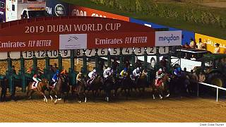 Meydan Hipodromu'nda düzenlenen '24. Dubai World Cup' at yarışı yoğun ilgi gördü
