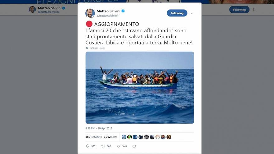 Salvini uses dated photo of migrants sparking controversy | #TheCube