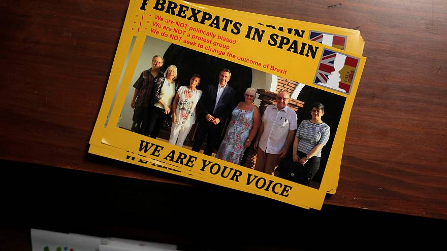 Leaflets at a talk for British residents in Spain, September 2016