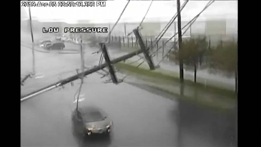 POWER LINES FALLING ON THE ROAD