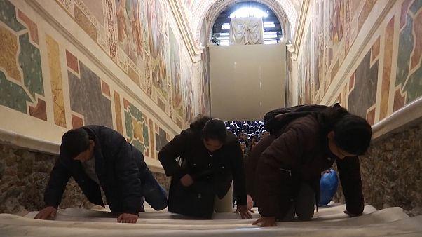 El Vaticano muestra la 'Scala Sancta'