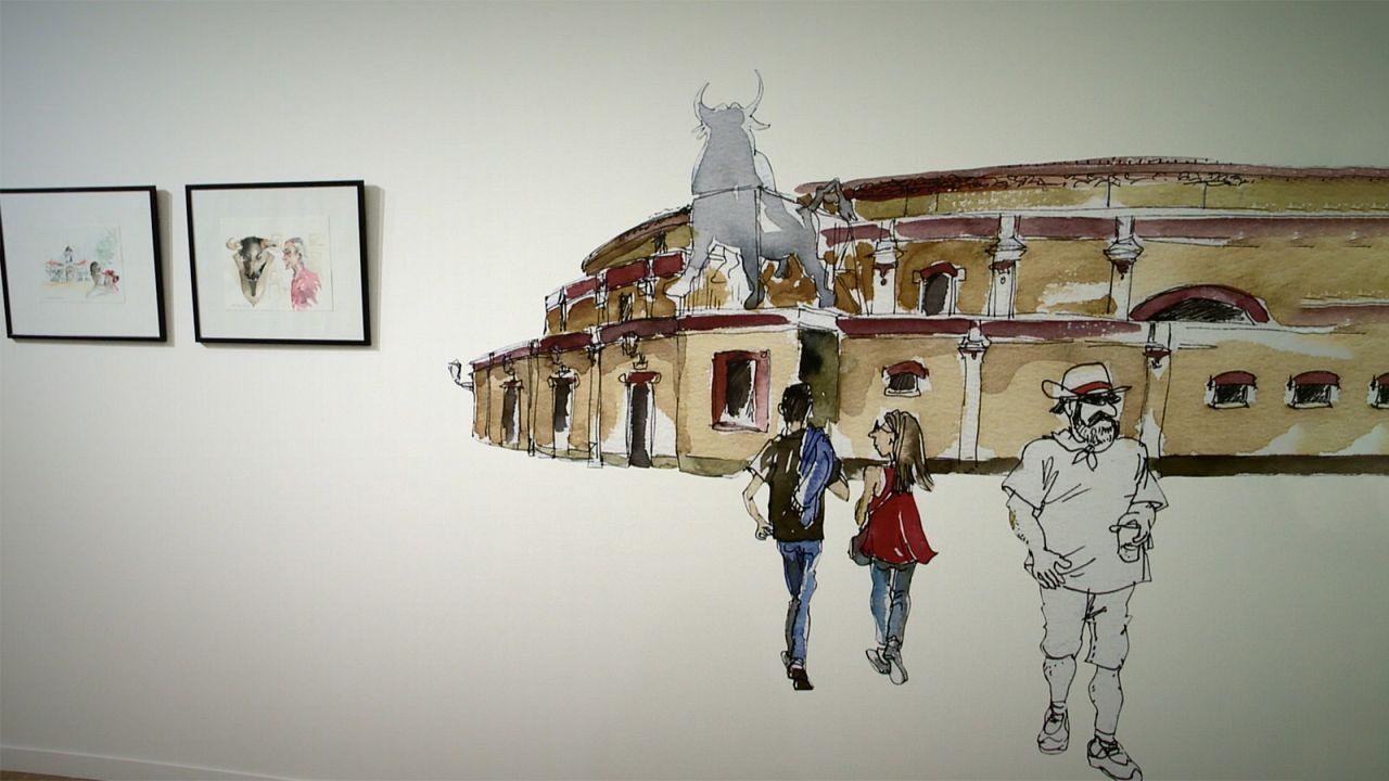 Toros, tradición y reivindicación política en la nueva edición de la exposición Cartoon Xira