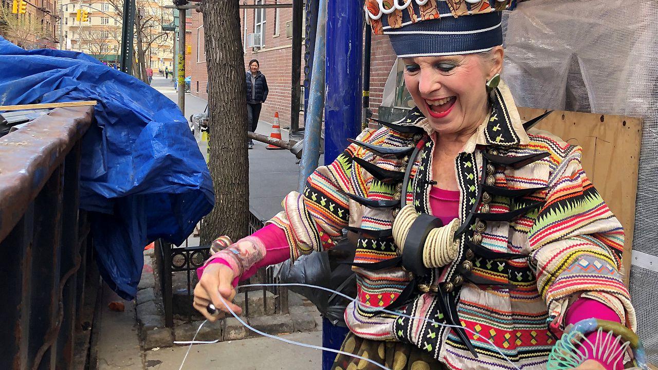 Meet NYC style icon Debra Rapoport who turns garbage into high-end fashion
