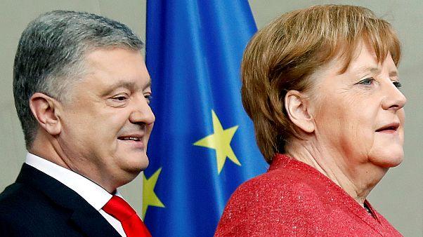Los candidatos a las elecciones ucranianas buscan apoyos en Francia y Alemania