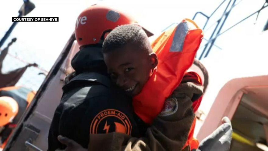 Dozens of migrants disembark in Malta after days stranded at sea