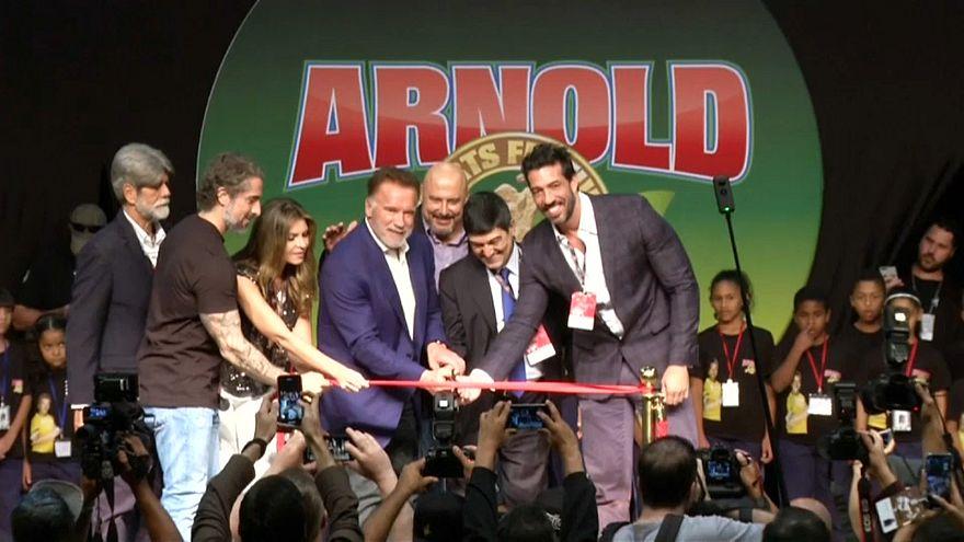 Schwarzenegger in Brasile per l'Arnold Sports Festival