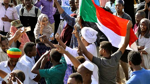 Celebrations in progress in Sudan after defence minister Awad Ibn Auf quit