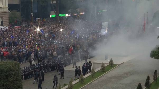 Watch again: Anti-government protests in Albania