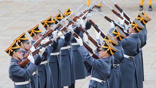 رژه ویژه سربازان گارد ریاست جمهوری روسیه
