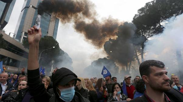 Nueva protesta multitudinaria en Albania contra el Ejecutivo del primer ministro, Edi Rama