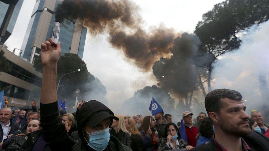 Vent de contestation en Albanie