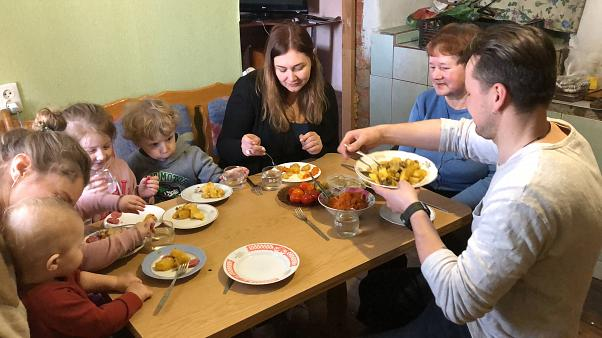 A day in the life: A Ukrainian family votes for their next president