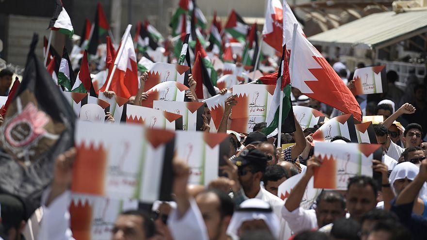 مسيرة احتجاجية ببلدة الدراز في البحرين عام 2014 تنديدا بحرب إسرائيل على غزة
