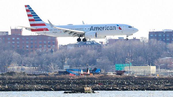 Eine Boeing 737 Max 8 der American Airlines
