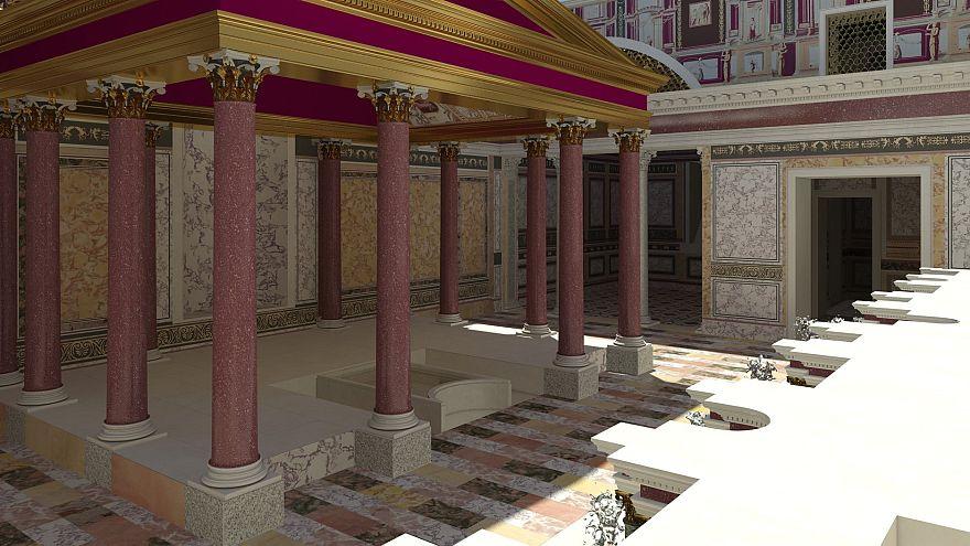 Εντυπωσιακές εικόνες από το παλάτι του Νέρωνα