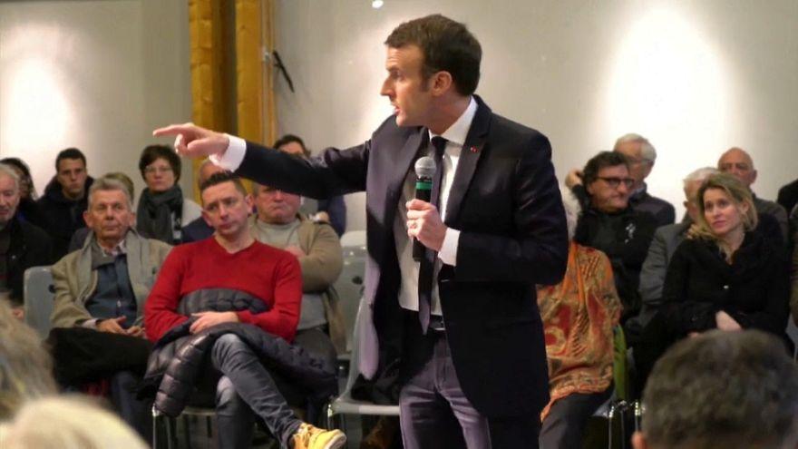 Emmanuel Macron, lors d'une réunion publique, le 24/01/2019