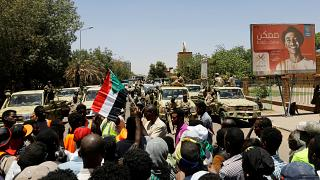 جانب من احتجاجات الشعب السوداني