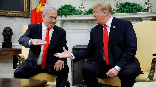 U.S. President Trump meets with Israel's Prime Minister Netanyahu at the W