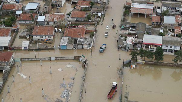 مناطق سیل زده در استان گلستان