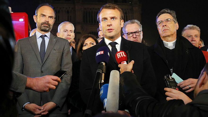 """""""Reconstruiremos"""", promete Emmanuel Macron"""