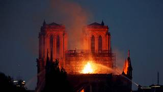 Victor Hugo already described flames in Notre Dame cathedral in his 1831 novel