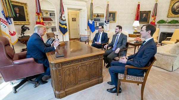 Hazine ve Maliye Bakanı Berat Albayrak ABD Başkanı Donald Trump'la görüştü