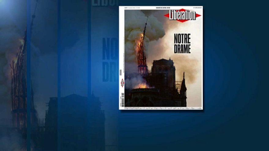 """""""Нотр-Дам"""" в огне: СМИ о пожаре в Париже"""