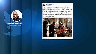 Mundo reage à tragédia de Notre-Dame