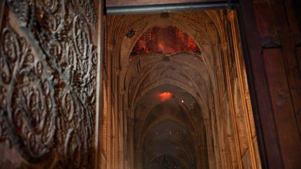 Az első kép a Notre Dame belsejéből a tűz után