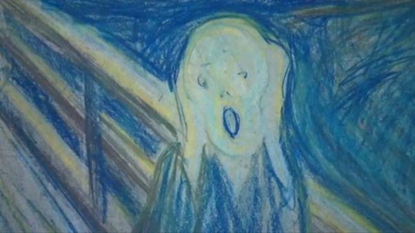 Edvard Munch exposé à la galerie Tretiakov de Moscou
