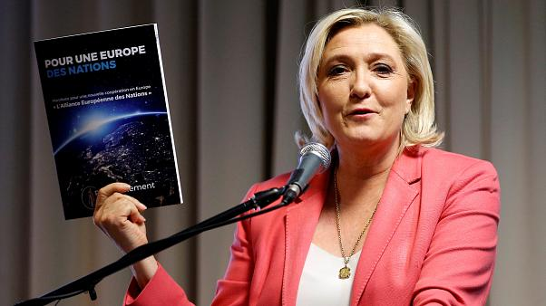 France's Le Pen unveils anti-EU campaign in Strasbourg
