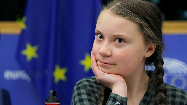 Parlamento Europeu recebe ativista Greta Thunberg