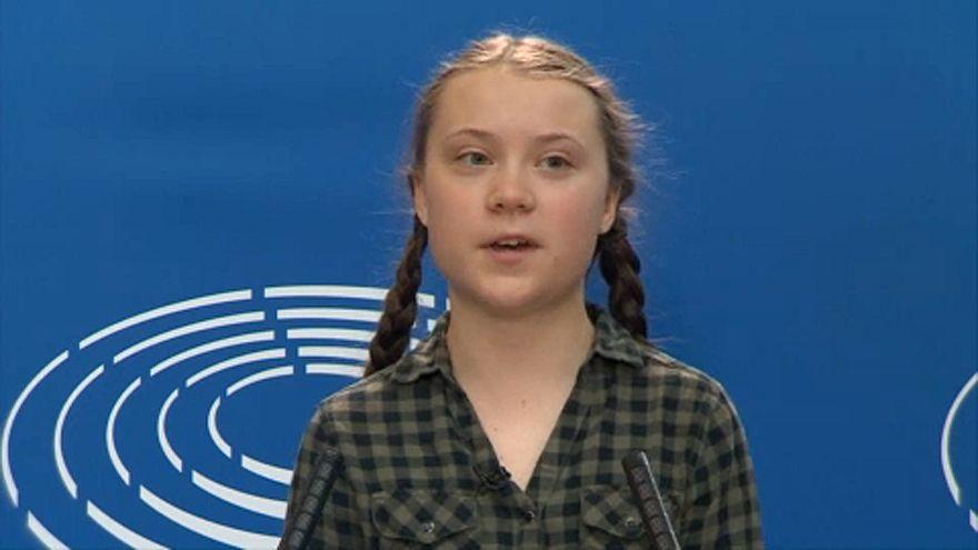 Greta Thunberg im Europäischen Parlament
