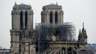 Parts of Notre Dame cathedral collapsed after a huge blaze broke out